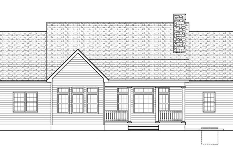 Ranch Exterior - Rear Elevation Plan #1010-142 - Houseplans.com