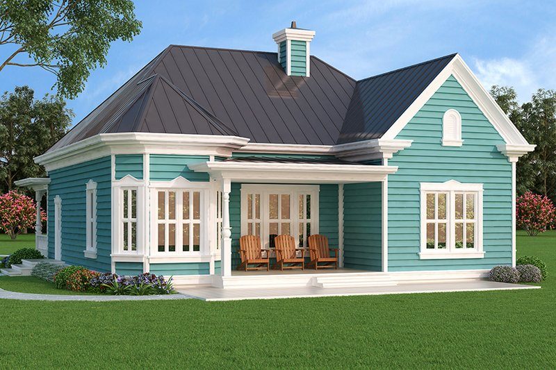 Dream House Plan - Victorian Exterior - Rear Elevation Plan #472-129