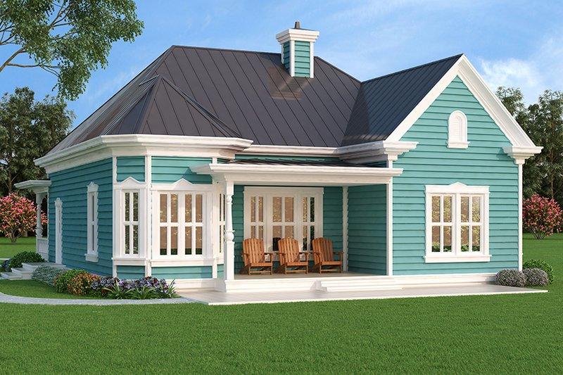 Home Plan - Victorian Exterior - Rear Elevation Plan #472-129