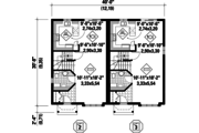 Traditional Style House Plan - 5 Beds 2 Baths 2434 Sq/Ft Plan #25-4519 Floor Plan - Main Floor Plan