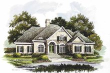 Home Plan Design - Country Exterior - Front Elevation Plan #429-205