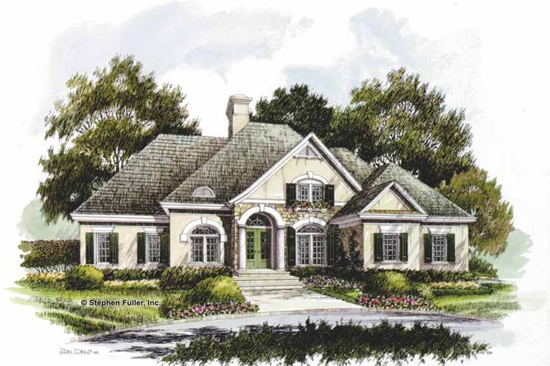 Country Exterior - Front Elevation Plan #429-205 - Houseplans.com