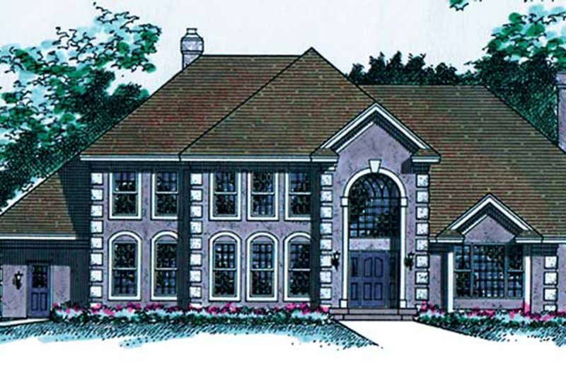 Traditional Exterior - Front Elevation Plan #51-932 - Houseplans.com
