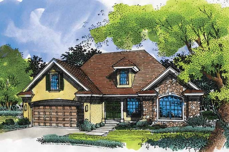 Ranch Exterior - Front Elevation Plan #320-519