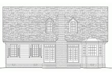 Home Plan - Southern Exterior - Rear Elevation Plan #137-293