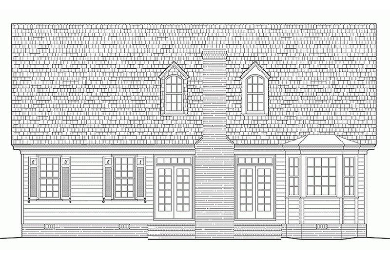 Southern Exterior - Rear Elevation Plan #137-293 - Houseplans.com