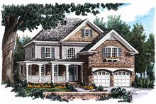 House Design - Country Exterior - Front Elevation Plan #927-736