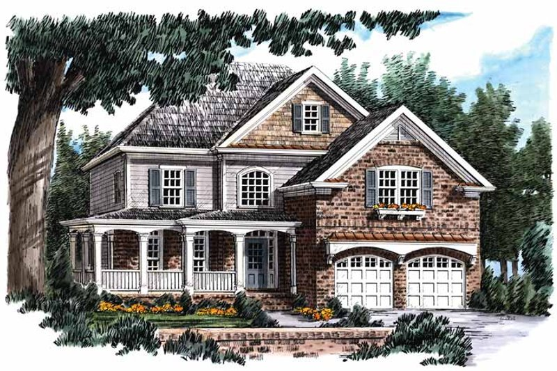 Country Exterior - Front Elevation Plan #927-736