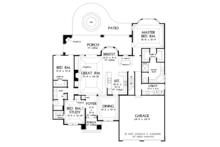 European Floor Plan - Main Floor Plan Plan #929-913
