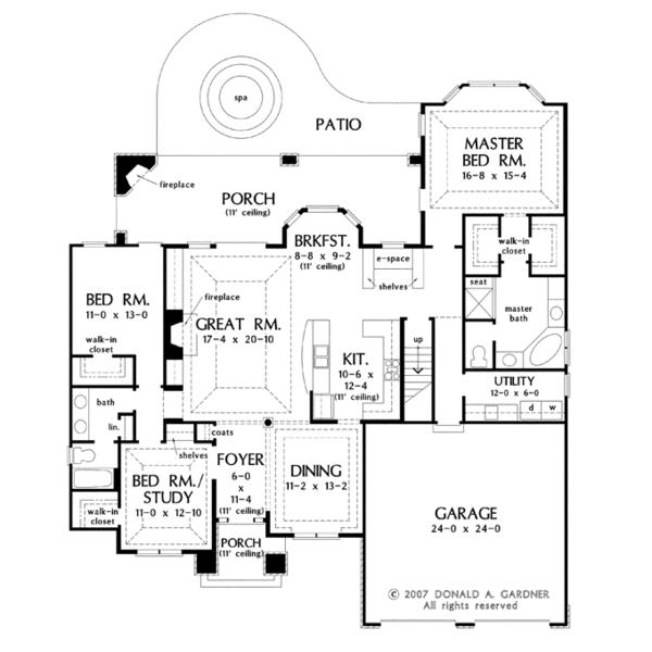 European Floor Plan - Main Floor Plan Plan #929-913