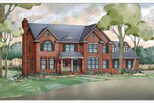 Classical Exterior - Front Elevation Plan #928-205