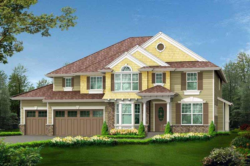 Craftsman Exterior - Front Elevation Plan #132-440