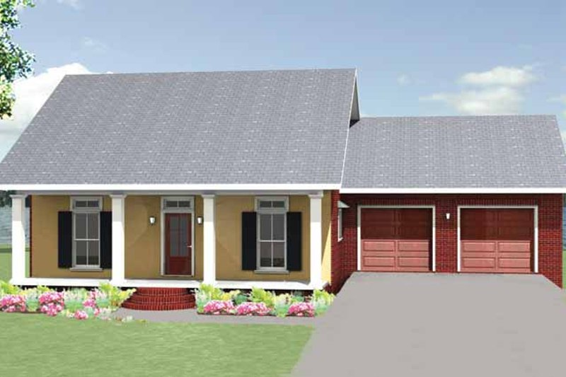 Country Exterior - Front Elevation Plan #44-219