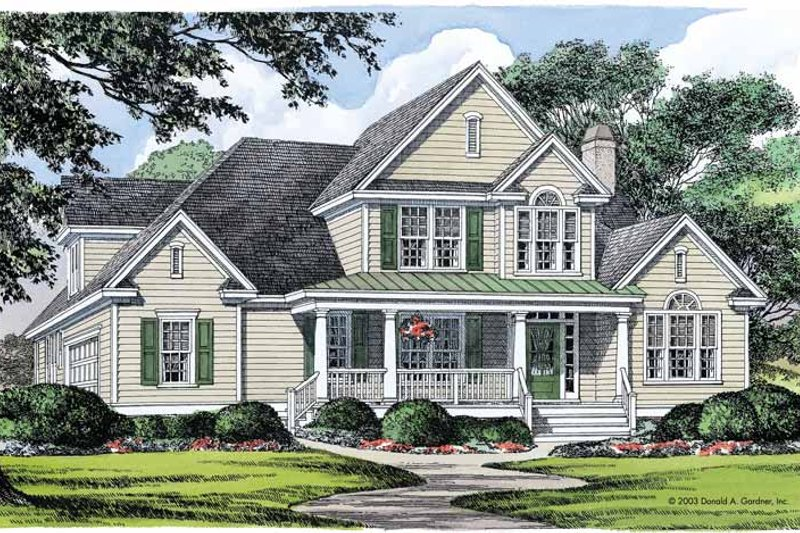 Country Exterior - Front Elevation Plan #929-359 - Houseplans.com