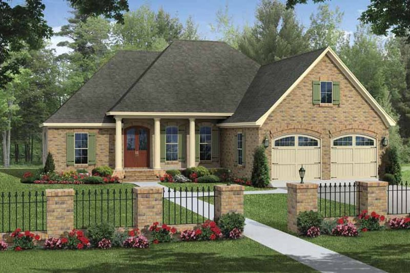 Traditional Exterior - Front Elevation Plan #21-426 - Houseplans.com