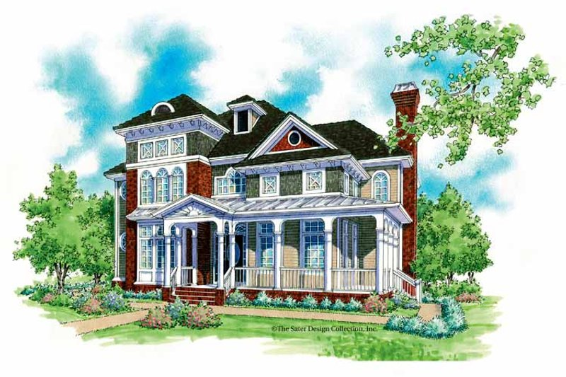 Victorian Exterior - Front Elevation Plan #930-200