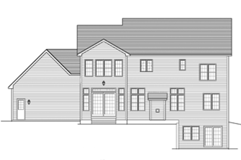 Colonial Exterior - Rear Elevation Plan #1010-66 - Houseplans.com