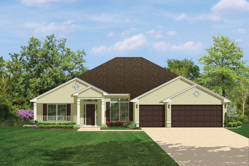 Traditional Exterior - Front Elevation Plan #1058-50 - Houseplans.com