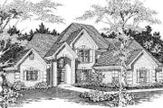 European Style House Plan - 4 Beds 2.5 Baths 3038 Sq/Ft Plan #329-281 Exterior - Front Elevation