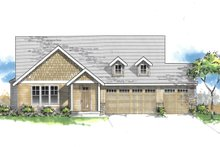 Home Plan - Craftsman Exterior - Front Elevation Plan #53-625