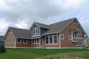Craftsman Style House Plan - 3 Beds 2.5 Baths 2494 Sq/Ft Plan #458-10 Exterior - Rear Elevation