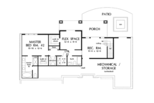 European Floor Plan - Lower Floor Plan Plan #929-921