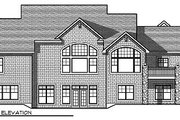 Traditional Style House Plan - 5 Beds 3.5 Baths 4441 Sq/Ft Plan #70-879 Exterior - Rear Elevation
