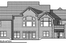 Home Plan - Traditional Exterior - Rear Elevation Plan #70-879
