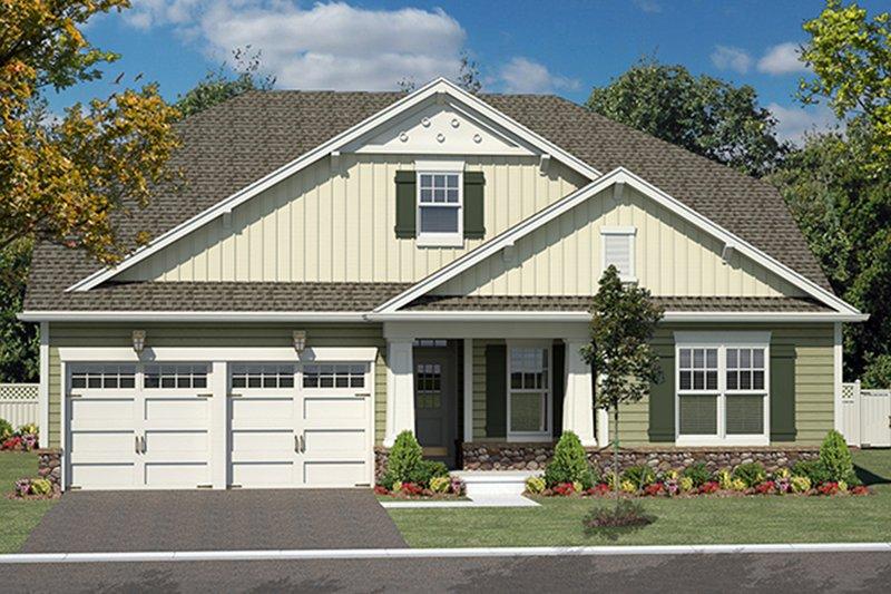 House Plan Design - Craftsman Exterior - Front Elevation Plan #316-281