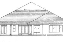 Mediterranean Exterior - Rear Elevation Plan #417-806