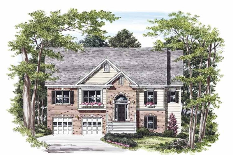 Colonial Exterior - Front Elevation Plan #927-460