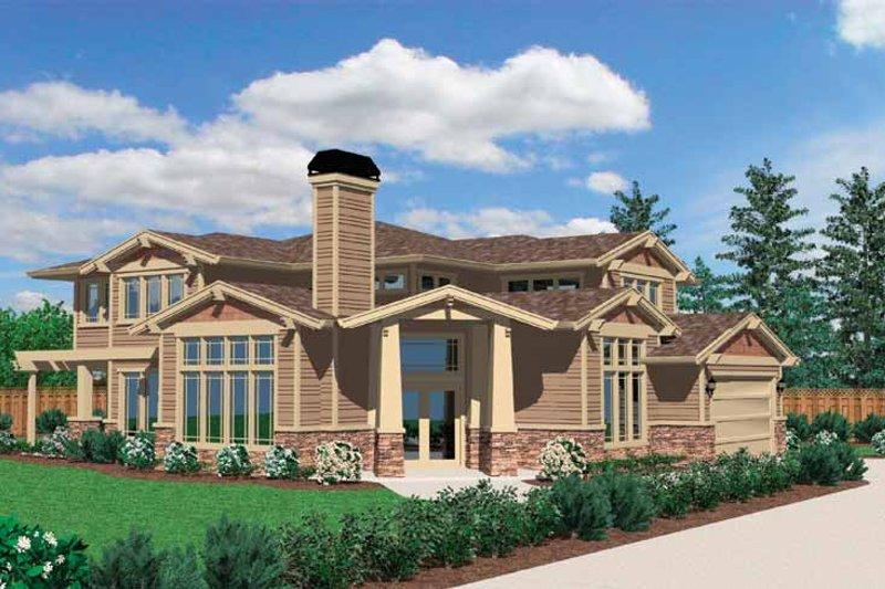 Prairie Exterior - Front Elevation Plan #509-339