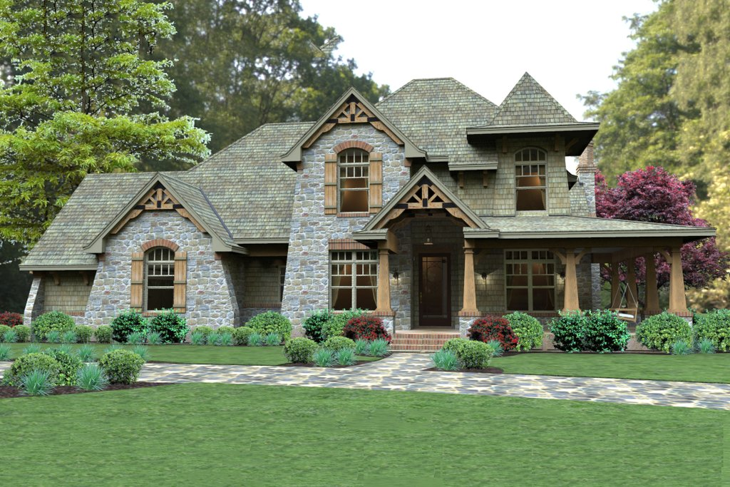 Craftsman style house plan 3 beds 3 baths 2487 sq ft for Old world style house plans