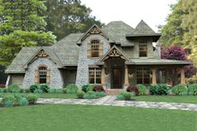 Dream House Plan - Craftsman Exterior - Front Elevation Plan #120-179