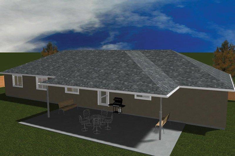 Ranch Exterior - Rear Elevation Plan #1060-31 - Houseplans.com