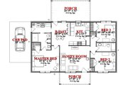 Ranch Style House Plan - 3 Beds 2 Baths 1437 Sq/Ft Plan #63-363 Floor Plan - Main Floor Plan