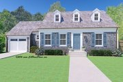 Colonial Style House Plan - 3 Beds 2.5 Baths 1486 Sq/Ft Plan #489-7 Exterior - Front Elevation