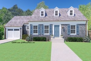 Colonial Exterior - Front Elevation Plan #489-7