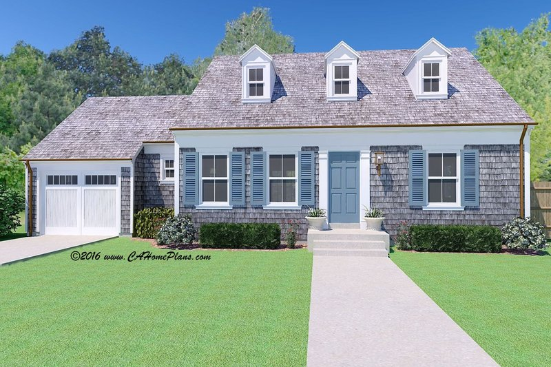 Architectural House Design - Colonial Exterior - Front Elevation Plan #489-7