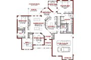 Traditional Style House Plan - 5 Beds 3 Baths 3503 Sq/Ft Plan #63-193 Floor Plan - Main Floor Plan