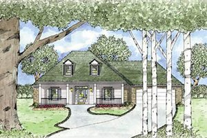 Architectural House Design - Southern Exterior - Front Elevation Plan #36-155