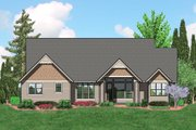 Craftsman Style House Plan - 3 Beds 2.5 Baths 2591 Sq/Ft Plan #48-540 Exterior - Rear Elevation