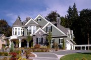 Victorian Style House Plan - 4 Beds 4.5 Baths 5250 Sq/Ft Plan #132-175 Exterior - Front Elevation