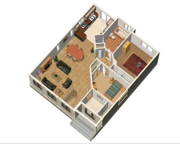 Country Floor Plan - Main Floor Plan Plan #25-4655