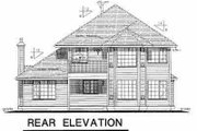 European Style House Plan - 3 Beds 2.5 Baths 2143 Sq/Ft Plan #18-243 Exterior - Rear Elevation