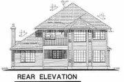 European Style House Plan - 3 Beds 2.5 Baths 2143 Sq/Ft Plan #18-243 Exterior - Rear Elevation