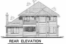 House Blueprint - European Exterior - Rear Elevation Plan #18-243