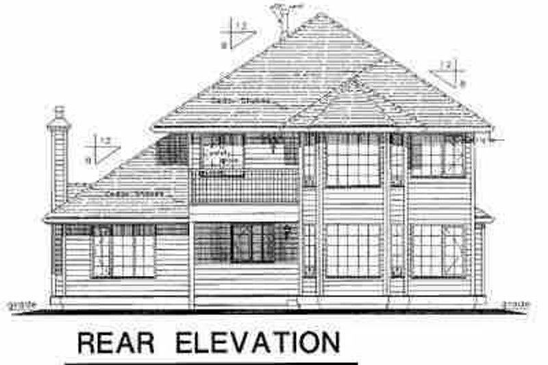 European Exterior - Rear Elevation Plan #18-243 - Houseplans.com