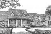 Southern Style House Plan - 3 Beds 2.5 Baths 2082 Sq/Ft Plan #310-394 Exterior - Front Elevation