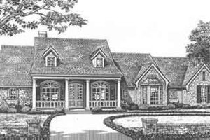Southern Exterior - Front Elevation Plan #310-394
